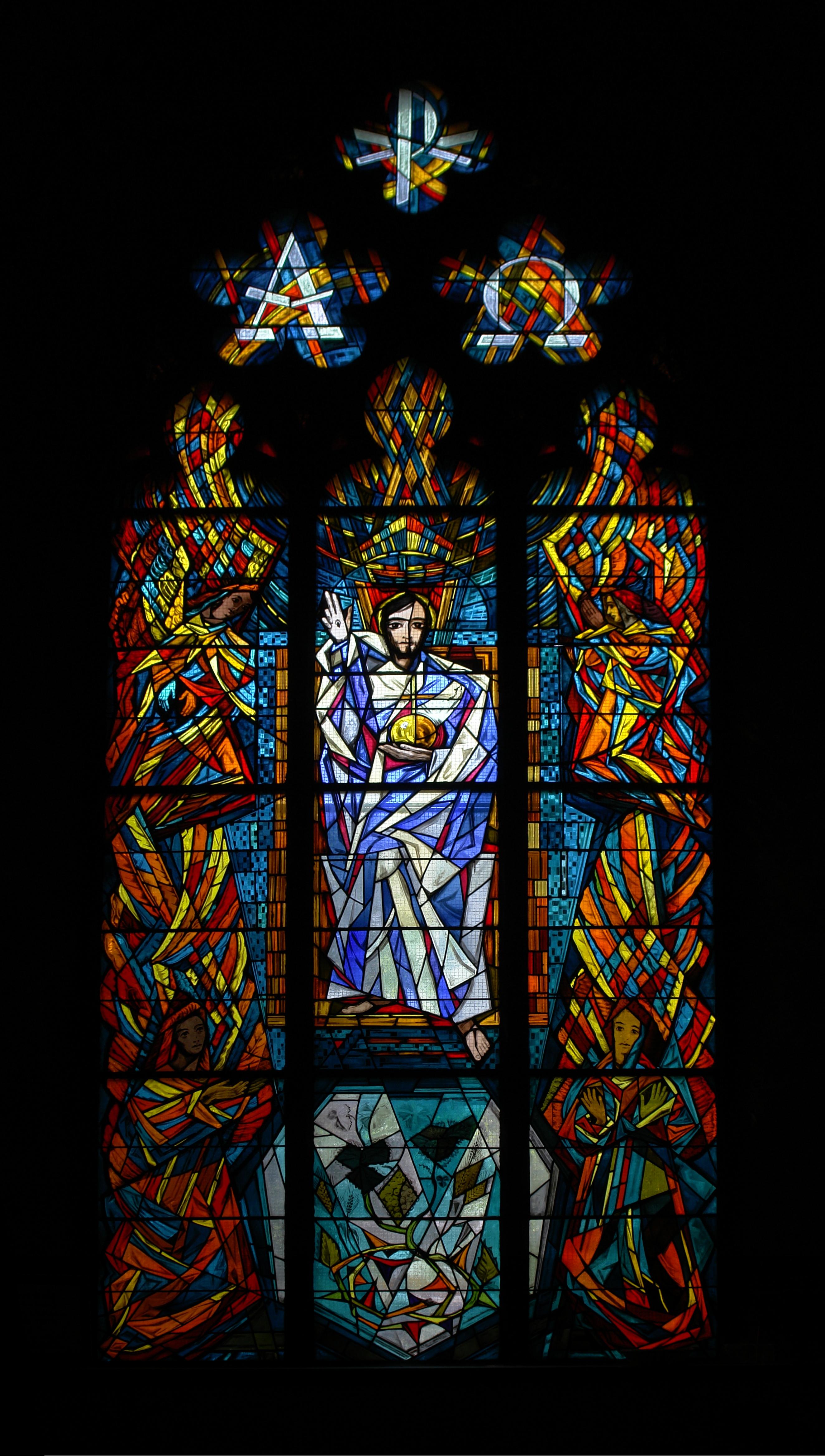 File Stained Gl Window Holy Trinity Church Geneva 2 Jpg