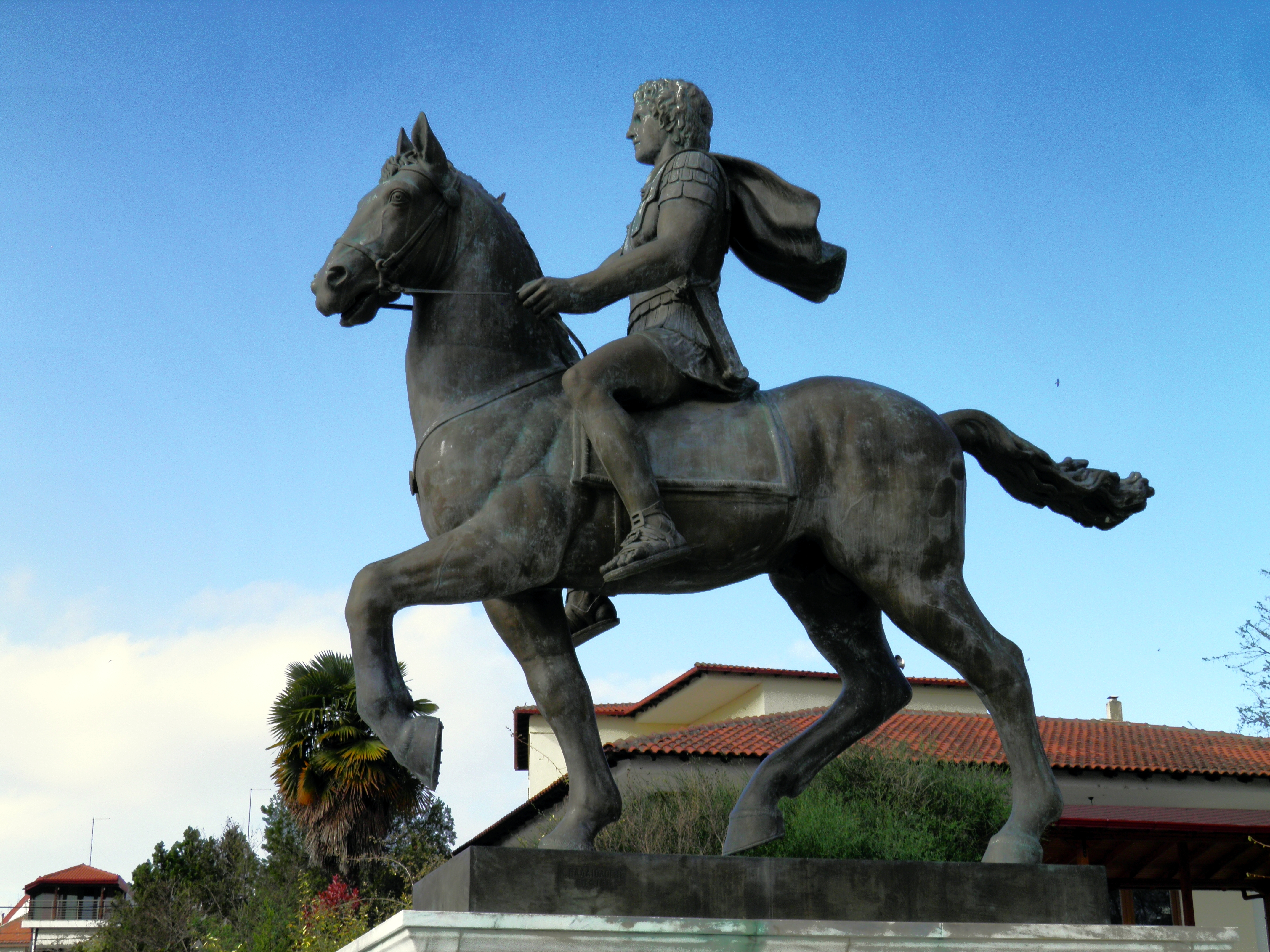 Statues Of Gods File Statue Of Alexander The Great Riding Bucephalus And