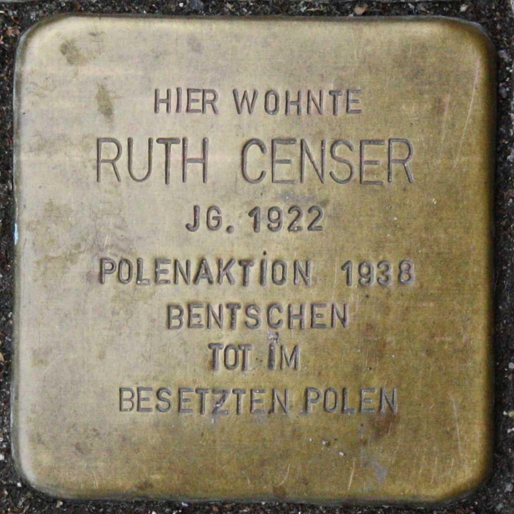 Stolperstein Ruth Censer Wuppertal.jpg