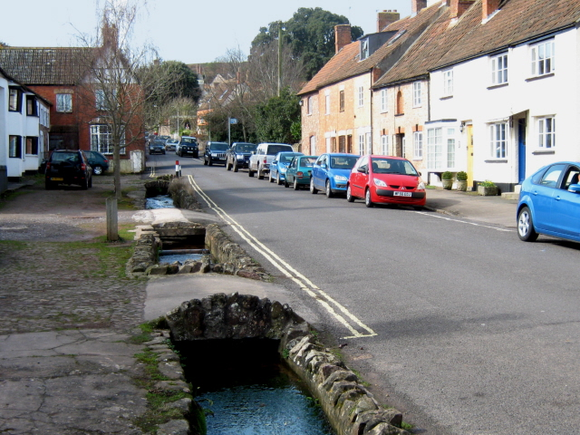 Stream flowing down Castle Street, Nether Stowey - geograph.org.uk - 1766843