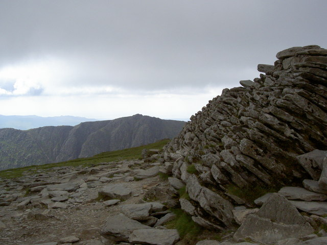 The Old Man - summit platform with Dow Crag beyond - geograph.org.uk - 1373126