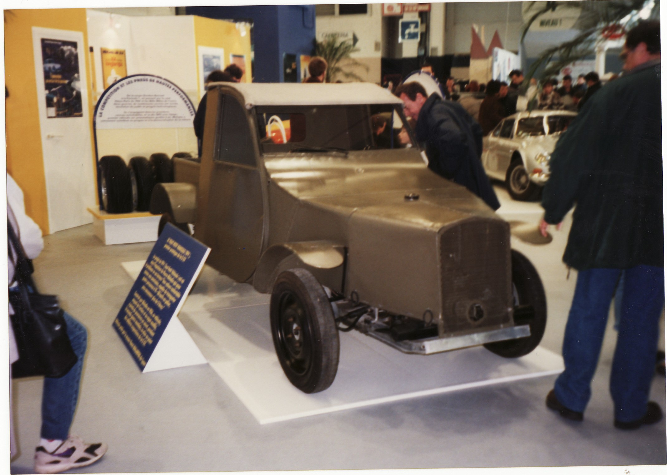 file the first prototype citroen 2cv  c 1936  with water