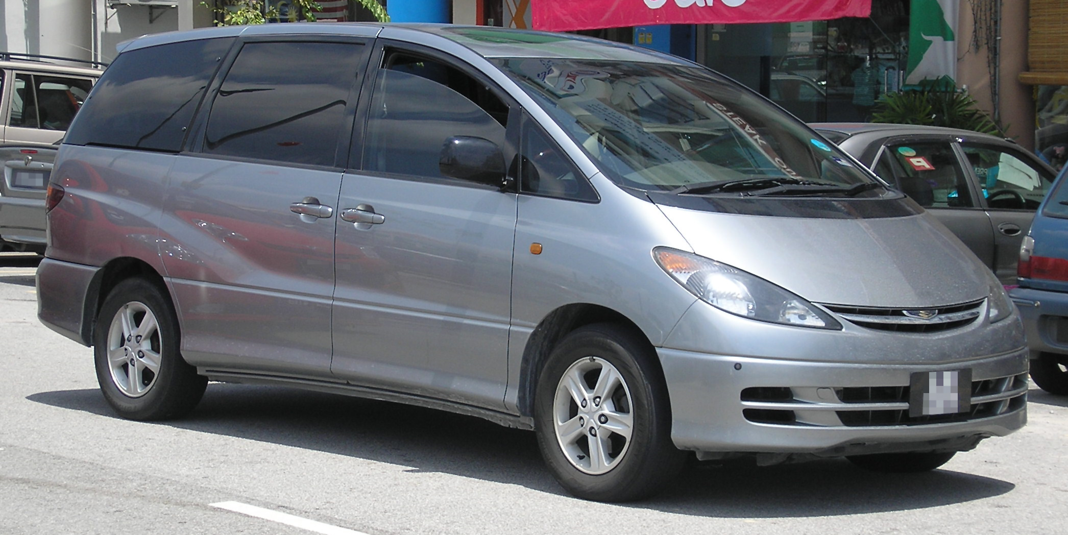Build Your Toyota >> File:Toyota Estima (second generation) (front), Serdang.jpg - Wikimedia Commons