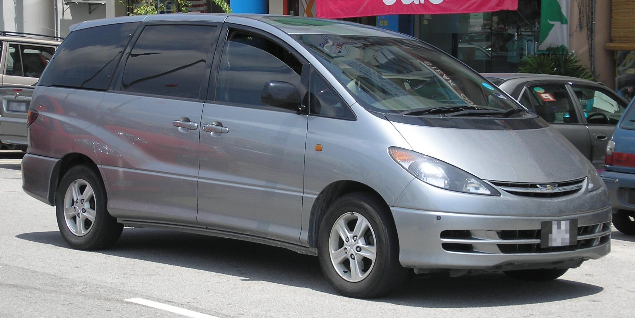 File:Toyota Estima (second generation) (front), Serdang ...