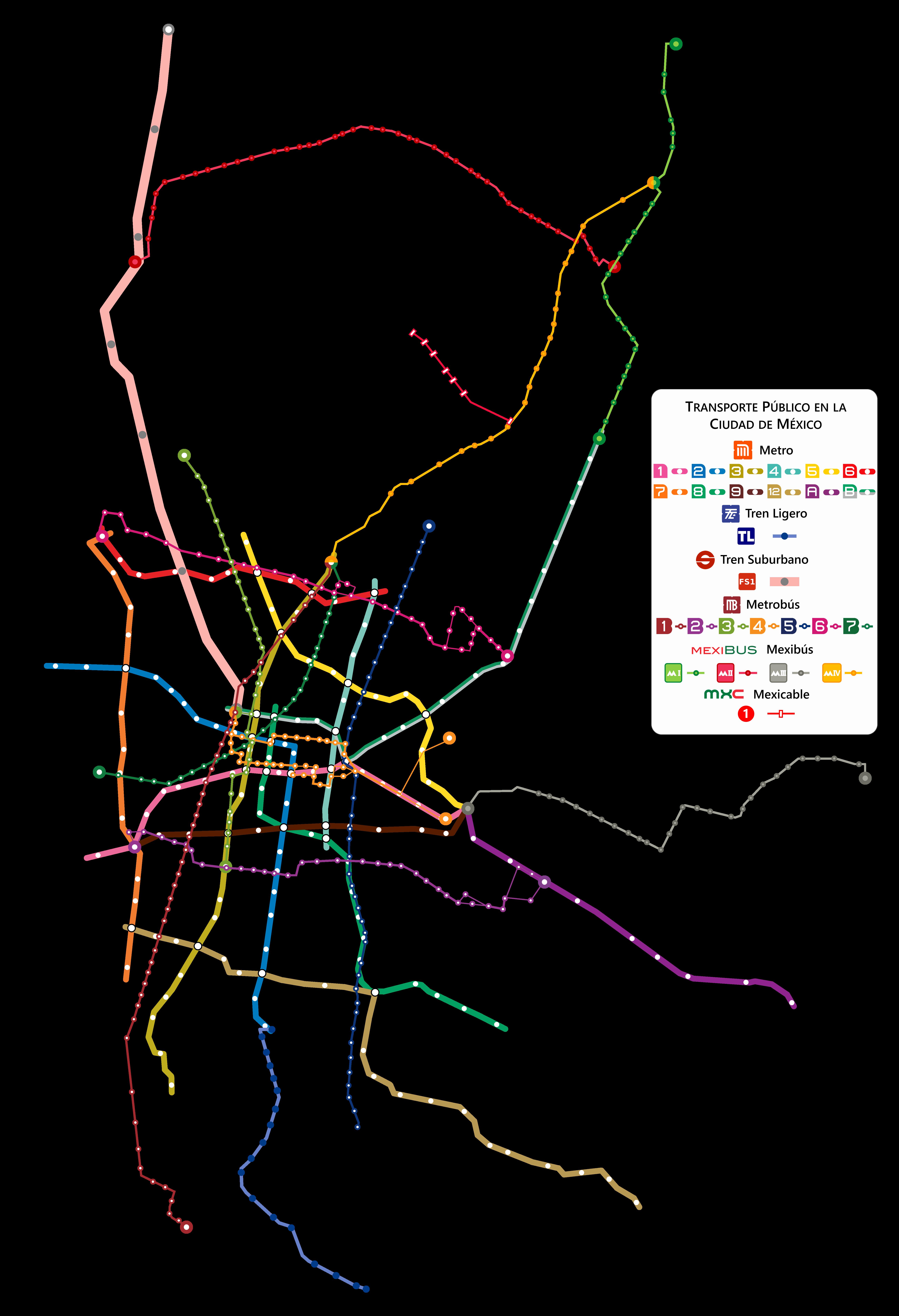 Transporte En La Ciudad De México Wikipedia La