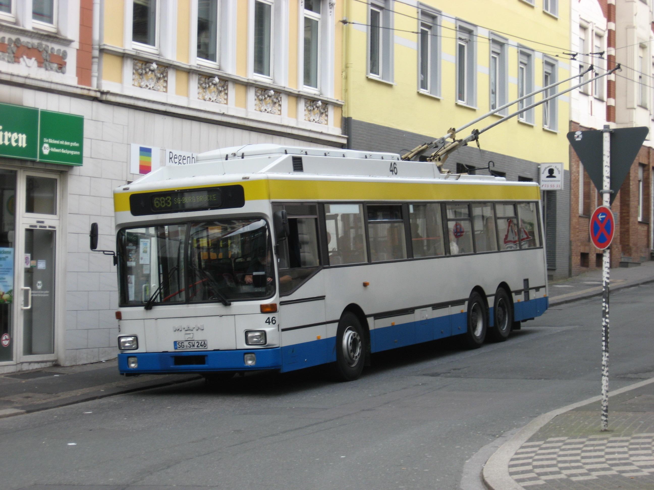 Afbeeldingsresultaat voor wuppertal trolleybus