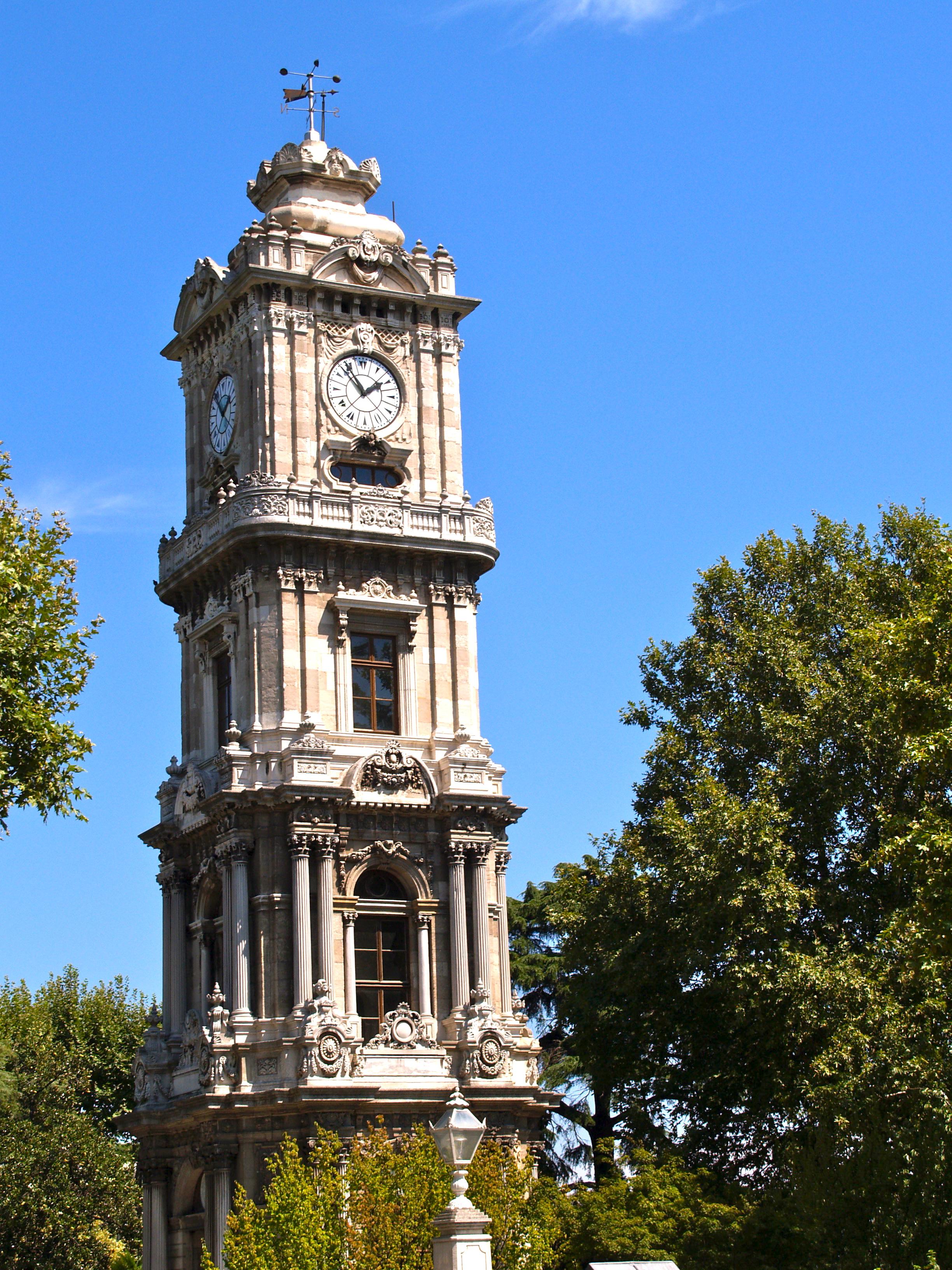 File:Turkey, Istanbul, Dolmabahçe Clock Tower.jpg ...
