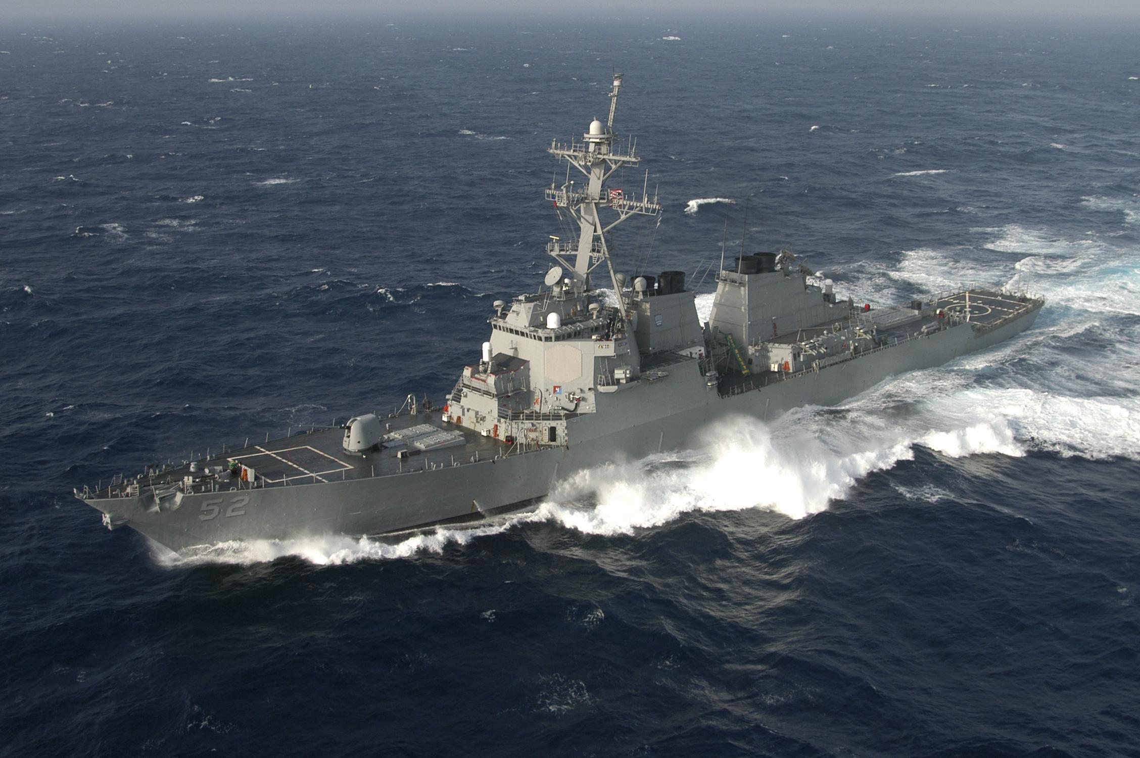 USS Barry (DDG-52) in the Atlantic Ocean