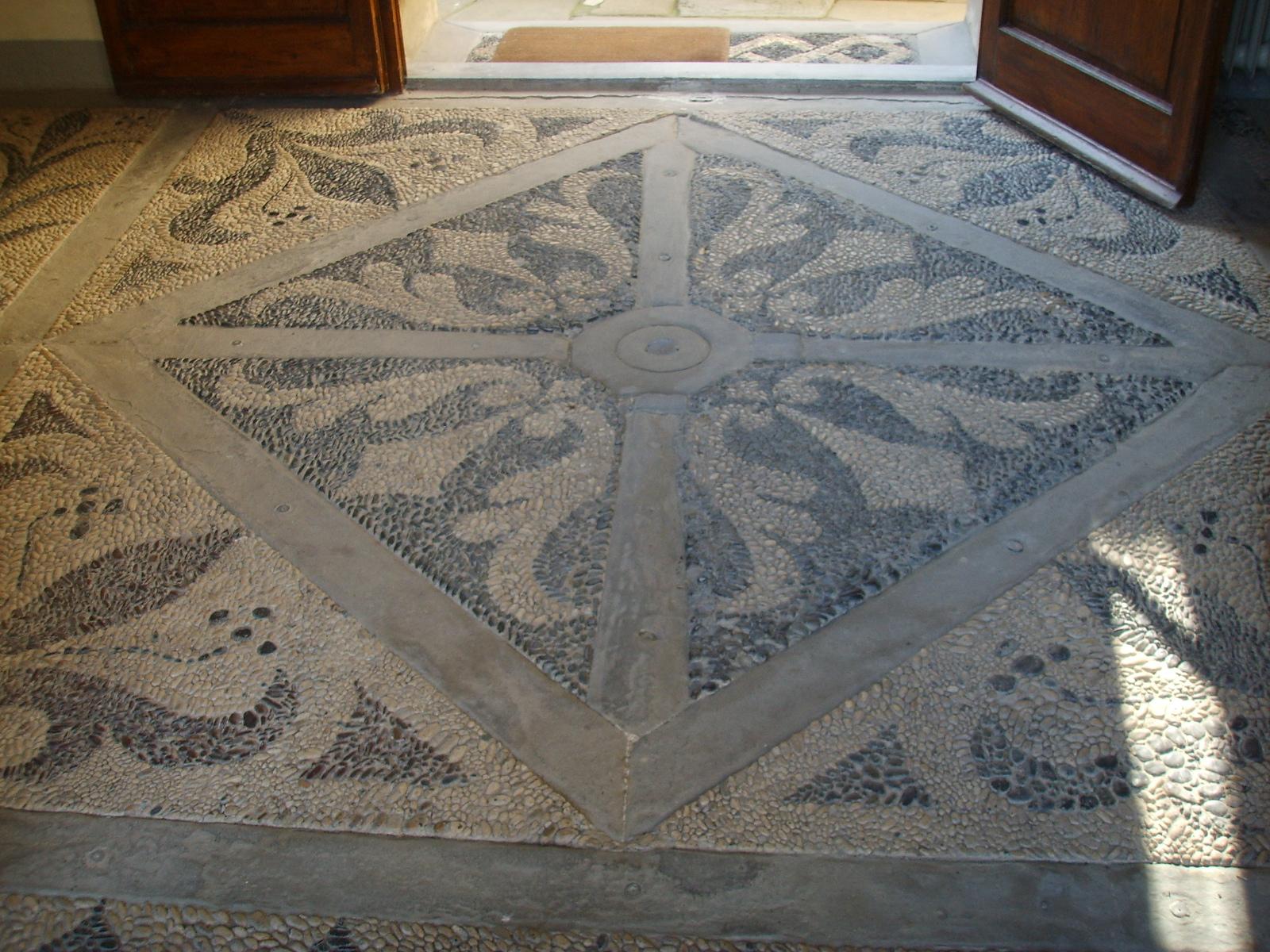 File villa il pozzino pavimento mosaico jpg wikipedia for Pavimento con mosaico