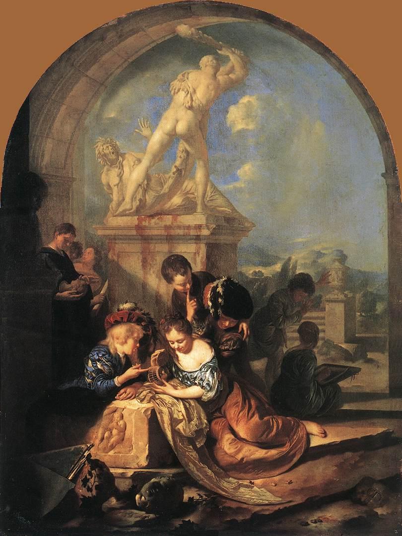 File:Werff, Adriaen van der - Children Playing before a Hercules Group -  1687