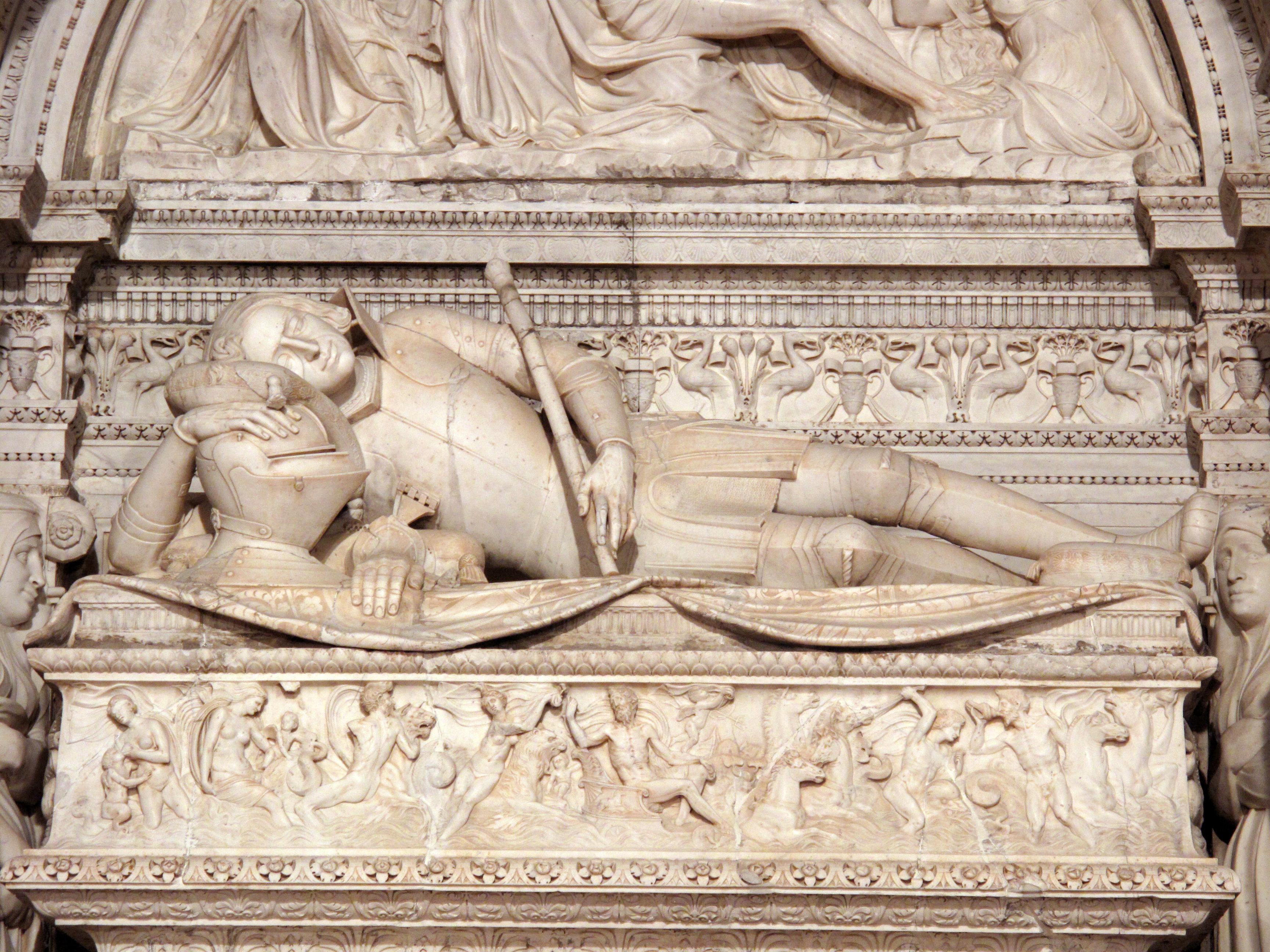 Sepulcro de Ramón Folc de Cardona-Anglesola (detalle), Giovanni da Nola