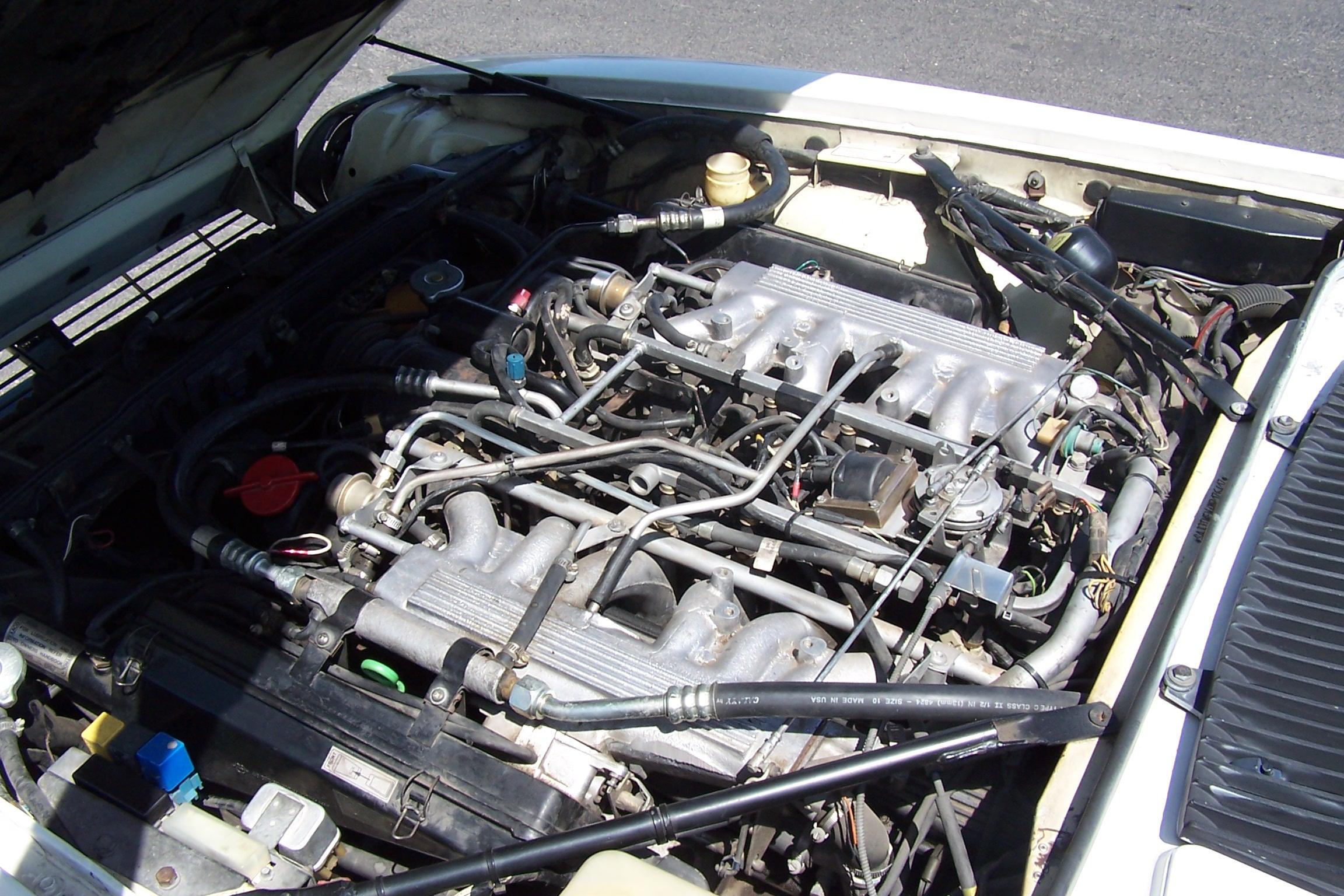 File 1991 Jaguar Xjs Us Model V12 Engine Jpg