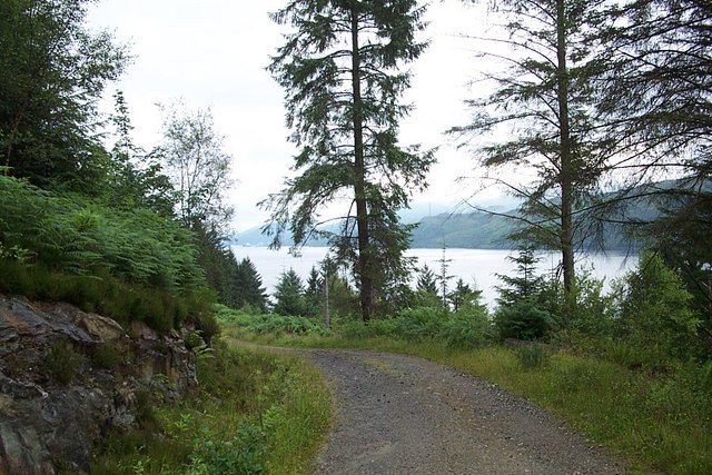 A glimpse of Loch Long - geograph.org.uk - 547984