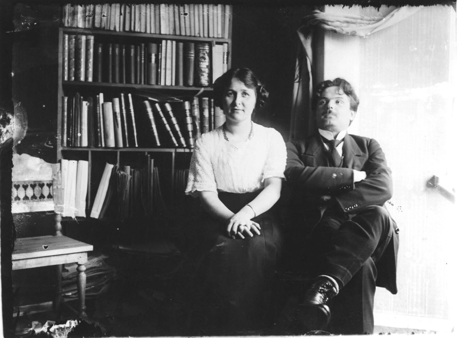 Alma en Toivo Kuula, circa 1914
