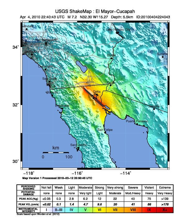 Los Angeles Earthquake Map Usgs