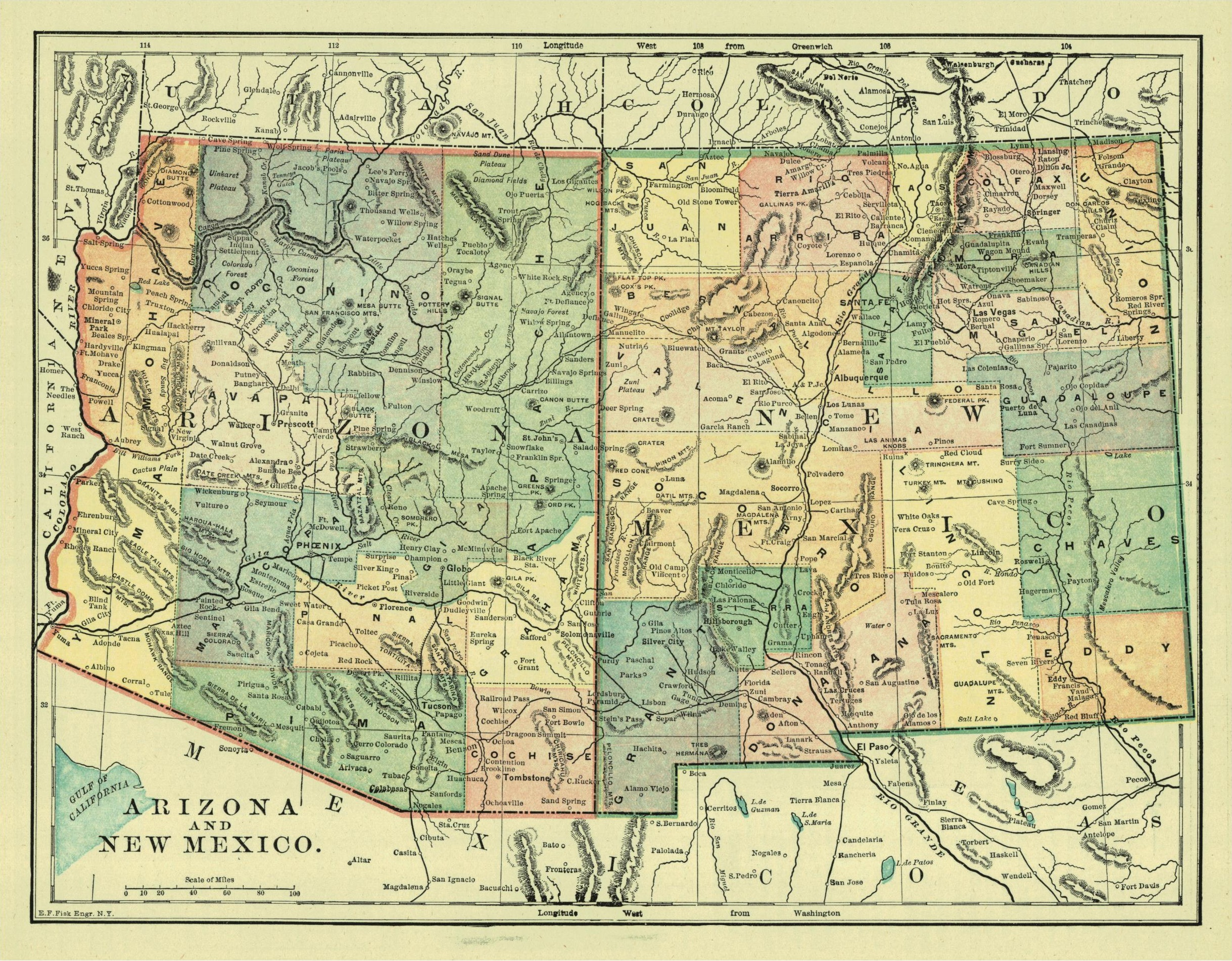 FileArizona And New Mexico Territories Map Jpg Wikimedia - Map of arizona and new mexico