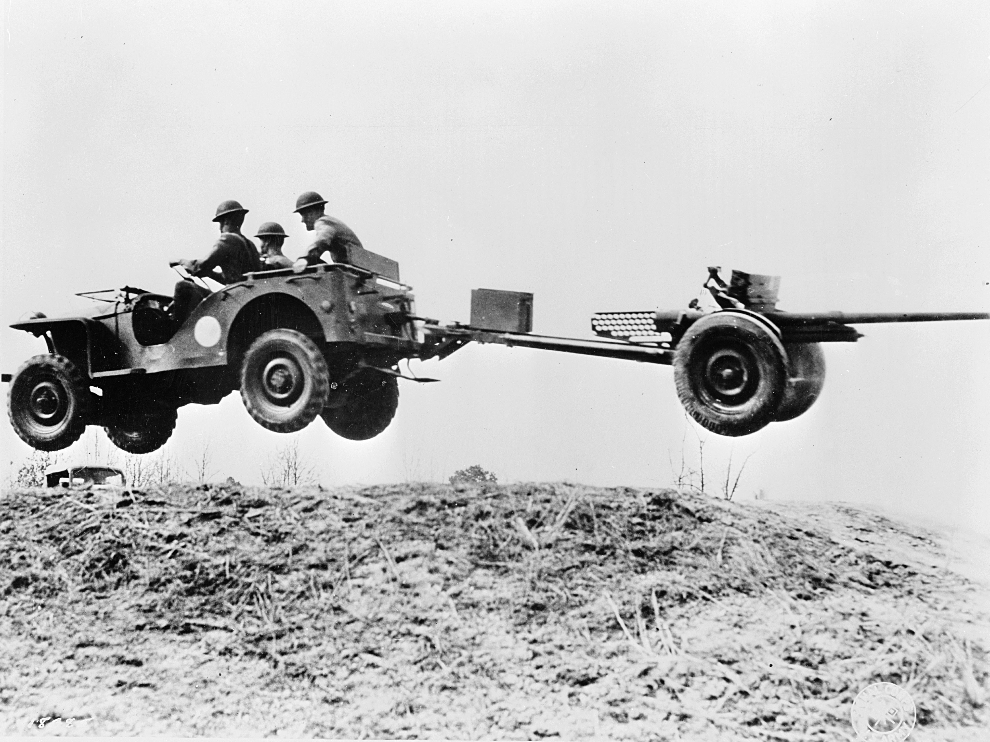 Bantam jeep flying 37mm