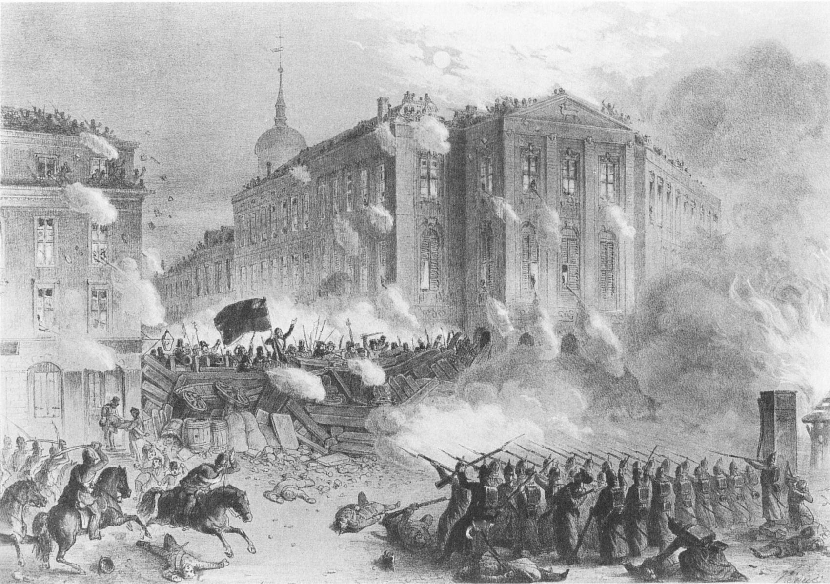 File Barrikadenkampf Alexanderplatz 1848 Jpg Wikimedia