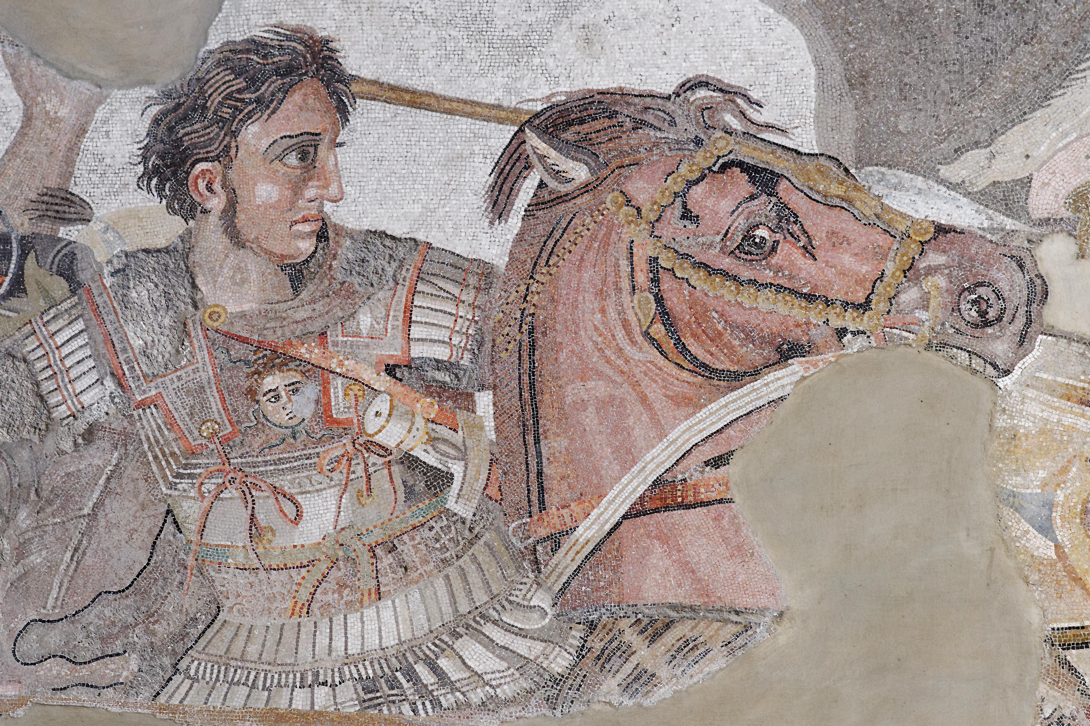 Alexandr v bitvě u Issu