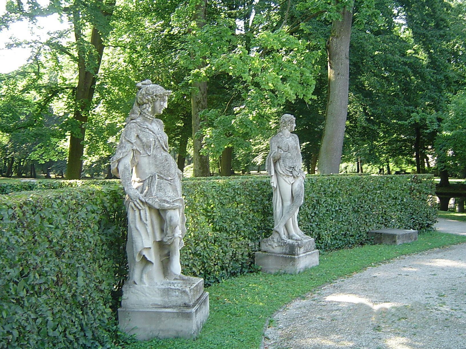 Filebayreuth Hofgarten Neues Schloss Garten Skulpturen Kopien