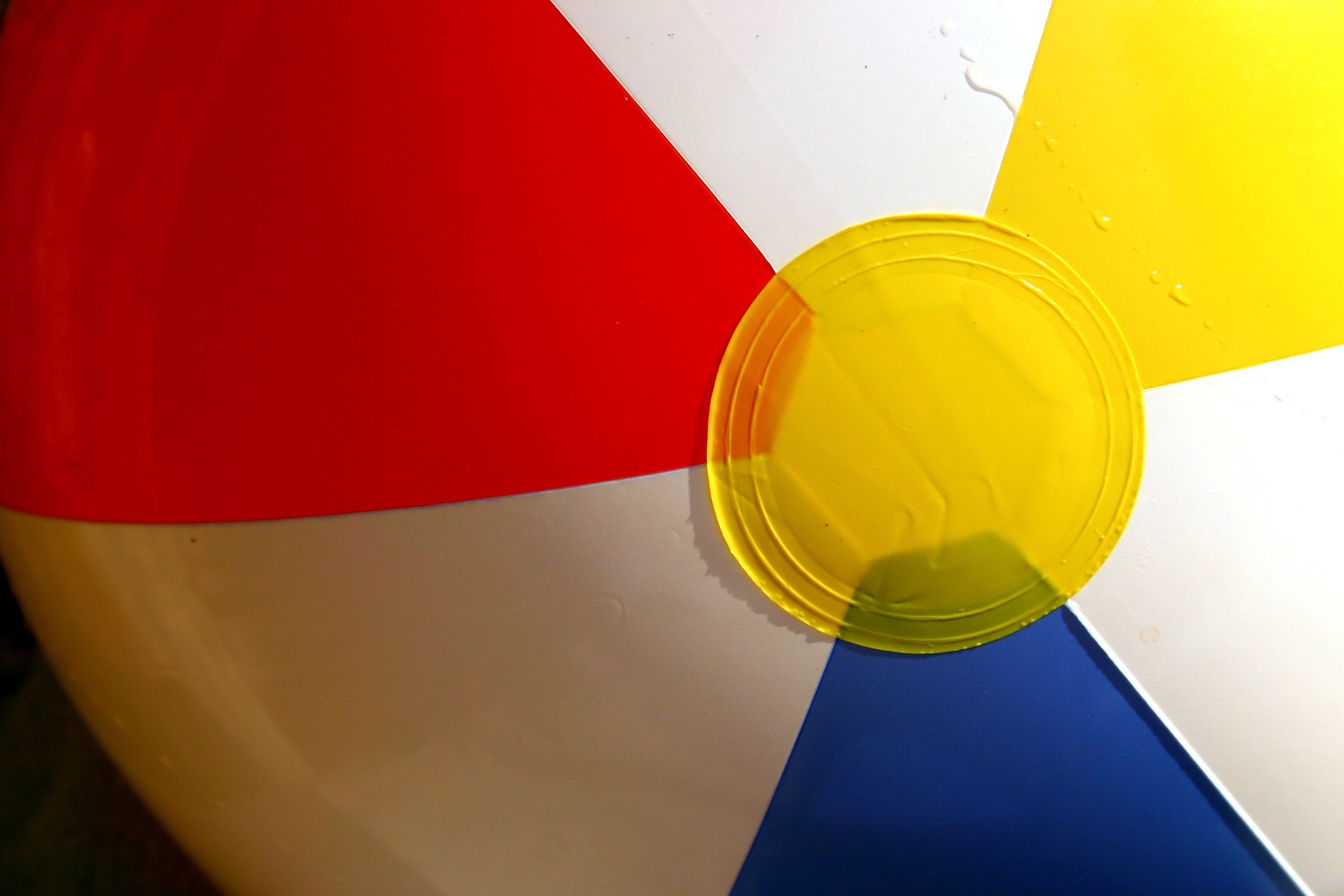 Detail of beach ball