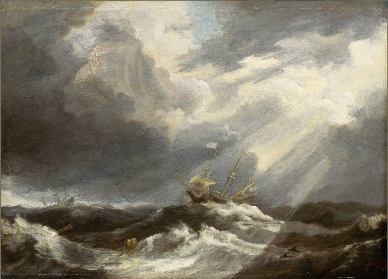Newton on the Stormy Seas