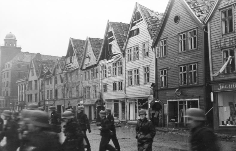 Image result for bryggen explosion 1944