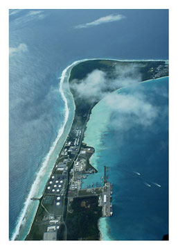 Camp Justice - Diego Garcia - from the air.