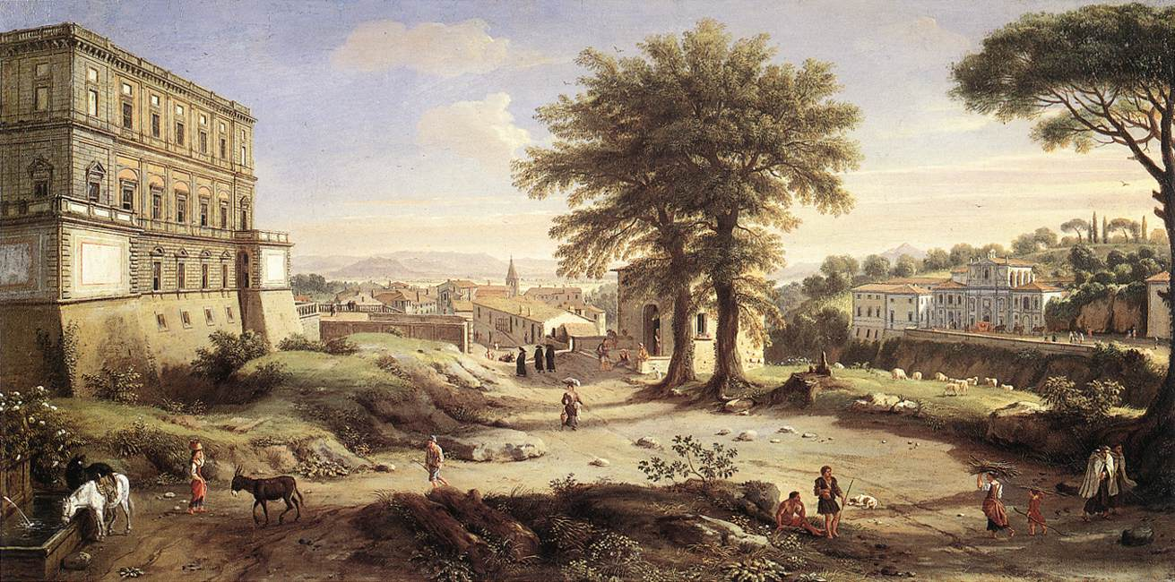 Каспар ван Виттель, Вилла Фарнезе в Капрароле (1720–1725, WGA25832) .jpg