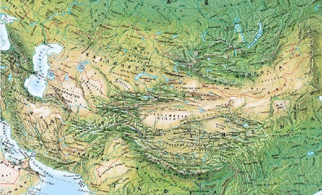 Map Of Asia Mountains.Mountains Of Central Asia Wikipedia