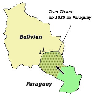 Gran Chaco was the site of the Chaco War (1932-35), in which Bolivia lost most of the disputed territory to Paraguay. Chacokrieg.jpg