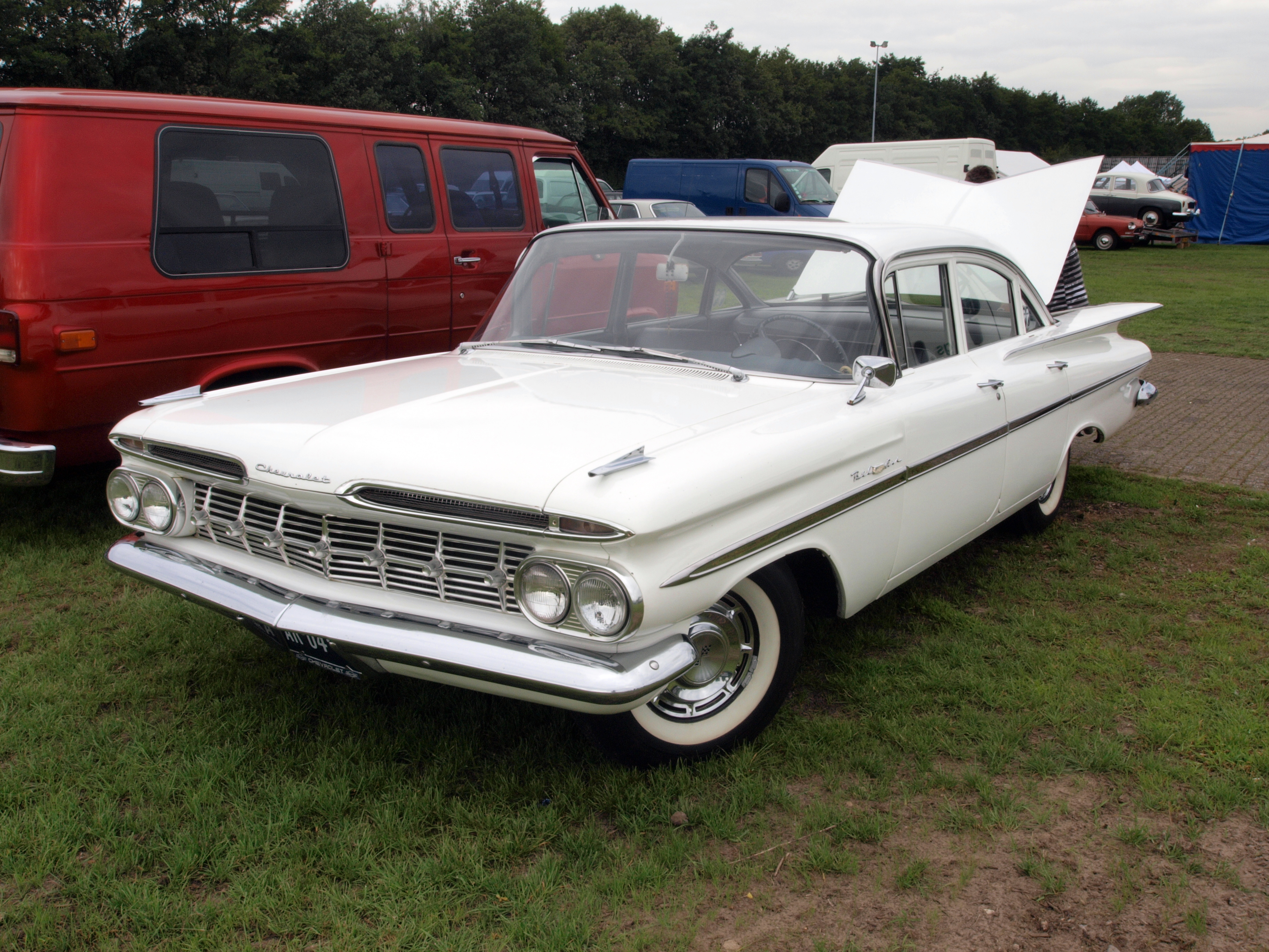 2 Person Car >> File:Chevrolet Bel air (1959) at the Autotron, dutch licence registration AR-04-47 p1.JPG ...