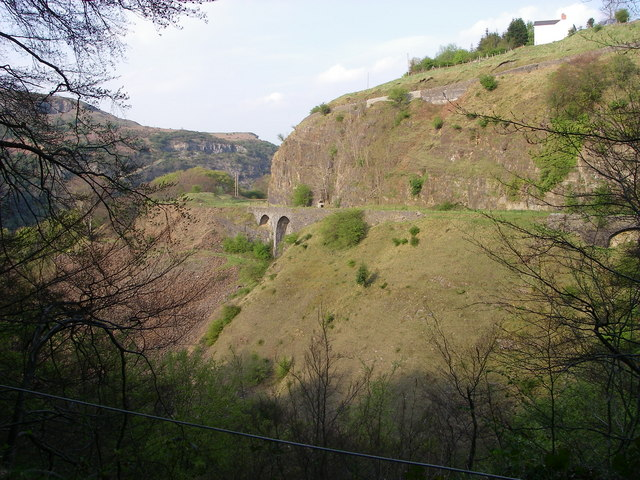 Clydach Gorge railway - geograph.org.uk - 409709
