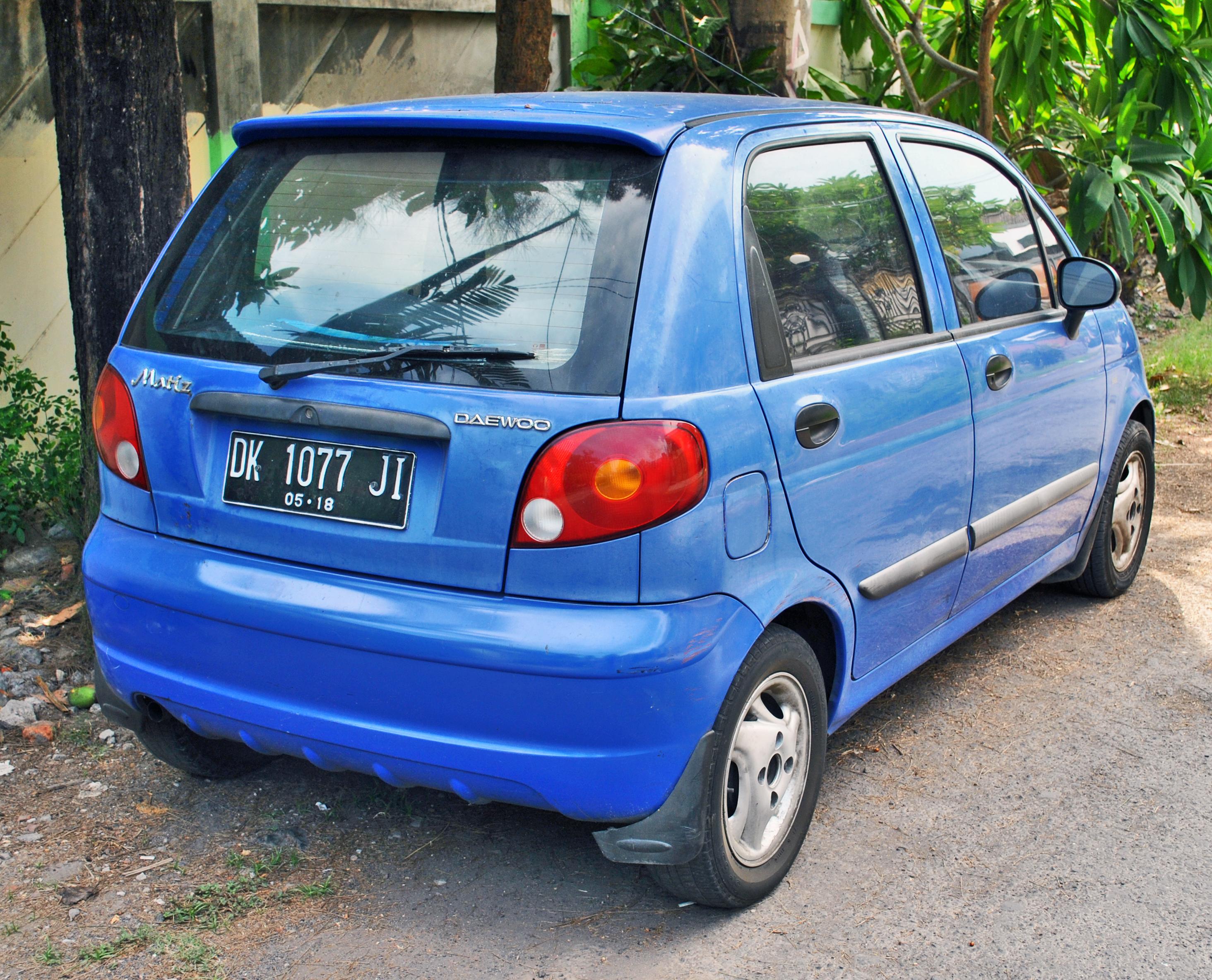 File:Daewoo Matiz (rear), Denpasar.jpg - Wikimedia Commons