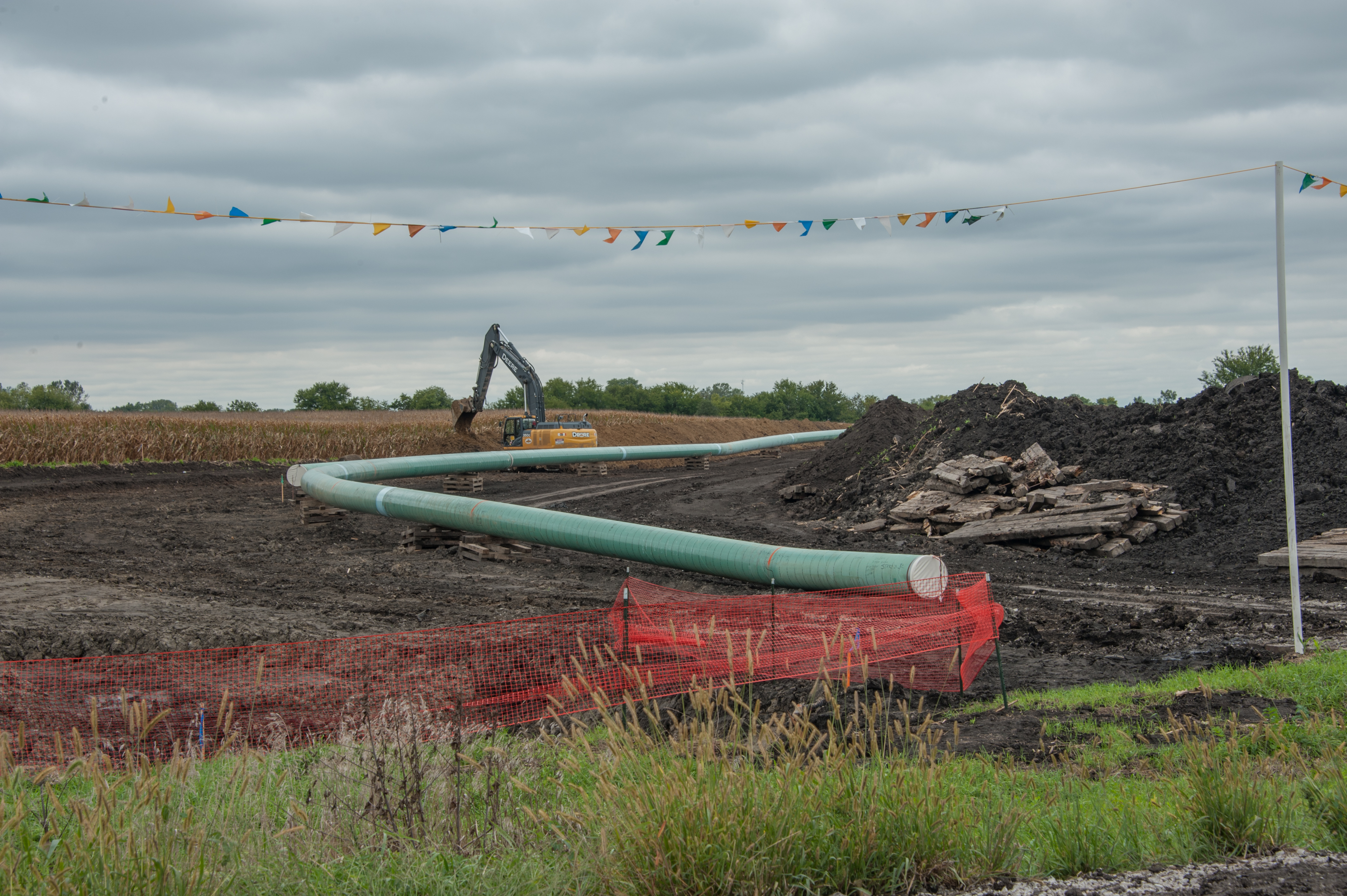 a photograph of the Dakota Access Pipeline during groundpreparation