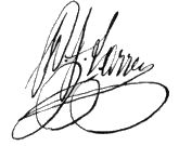 Signature de Dominique-Jean Larrey