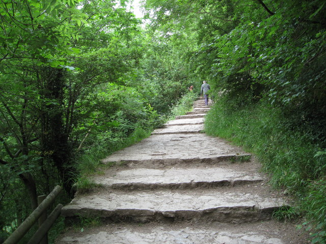 Dovedale - Climbing up to Lover's Leap - geograph.org.uk - 861223