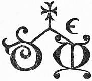 EB1911 Ceramics, Urbino Potter's mark.jpg