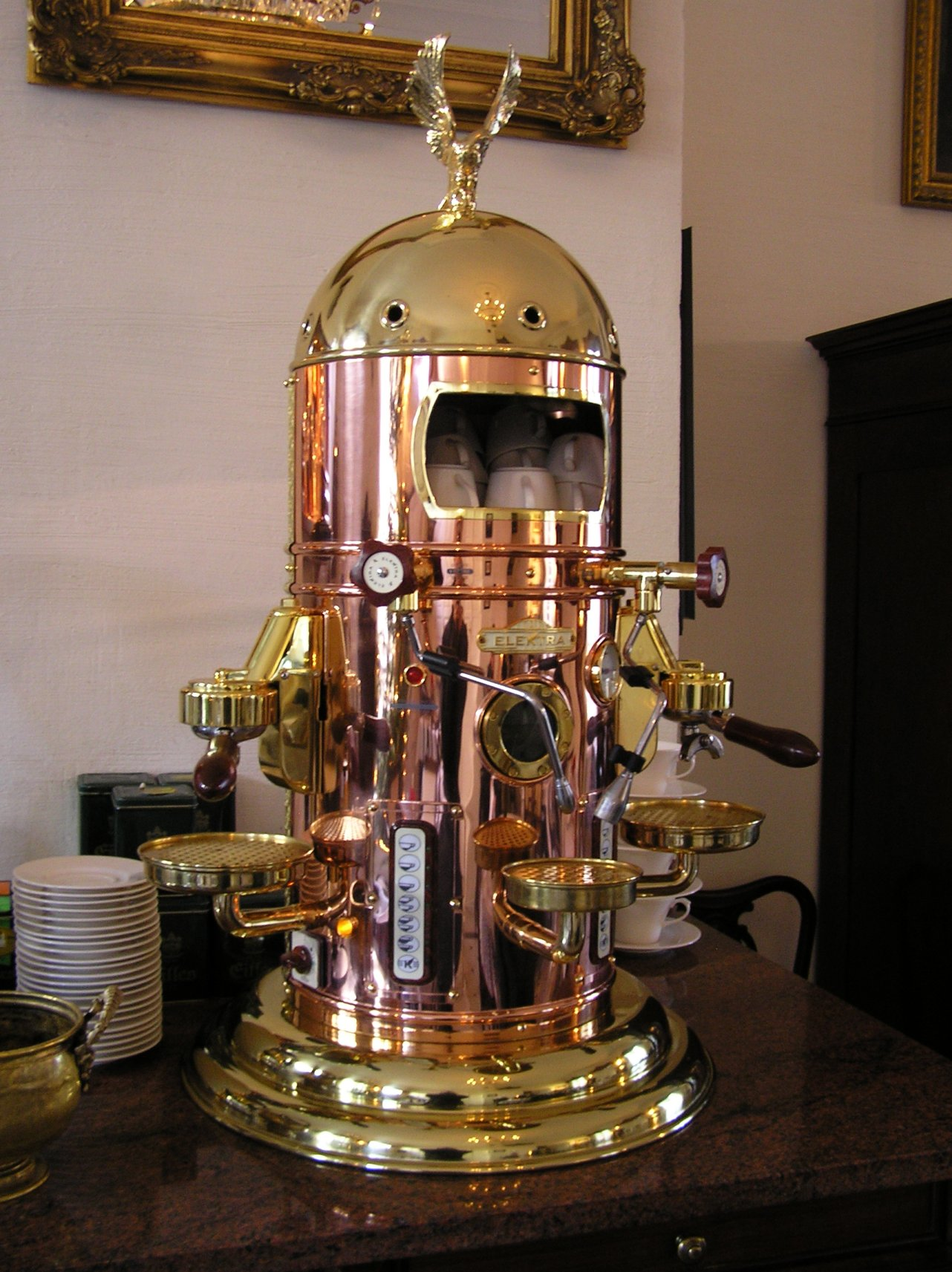 Antique Italian Coffee Maker : Dark Roasted Blend: Gorgeous Espresso Machines