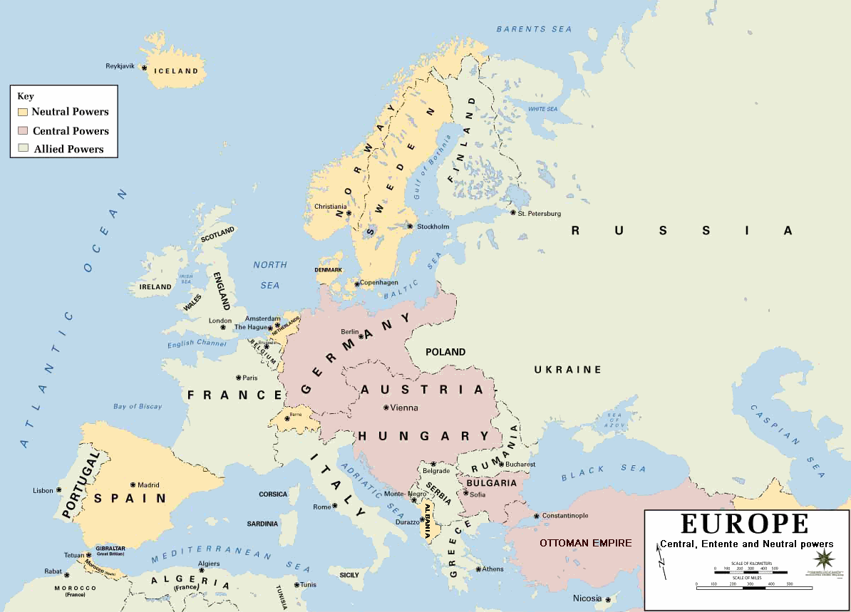 Map Of Europe Pre 1914