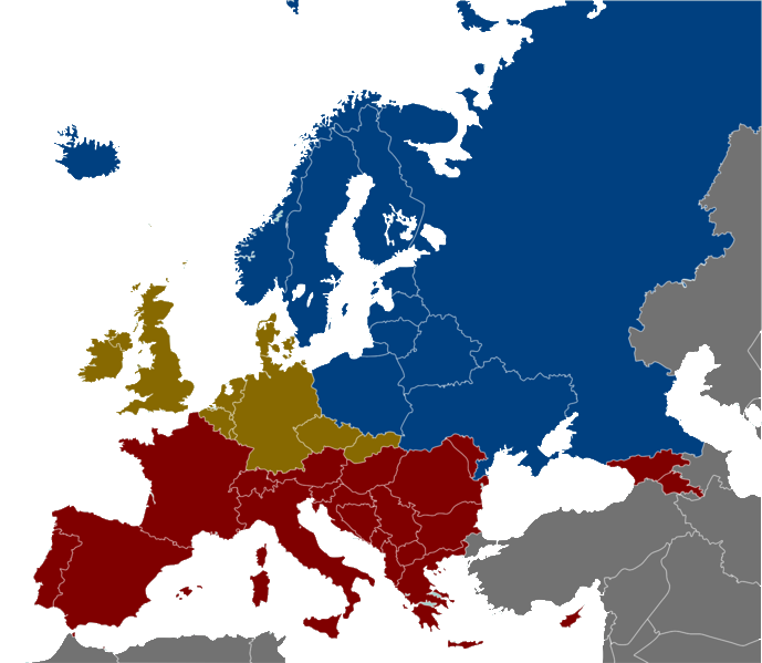Europe alcohol belts