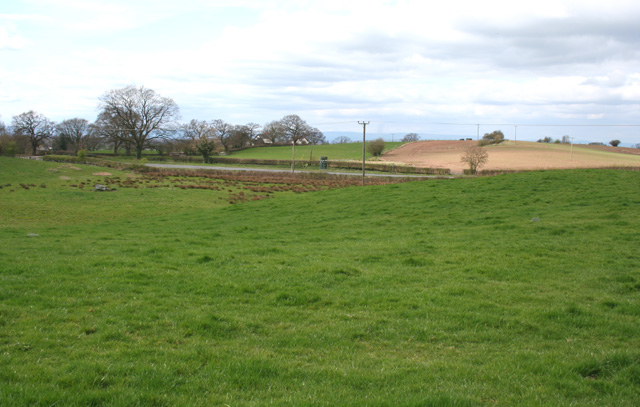 Farmland by the A49 - geograph.org.uk - 1230234