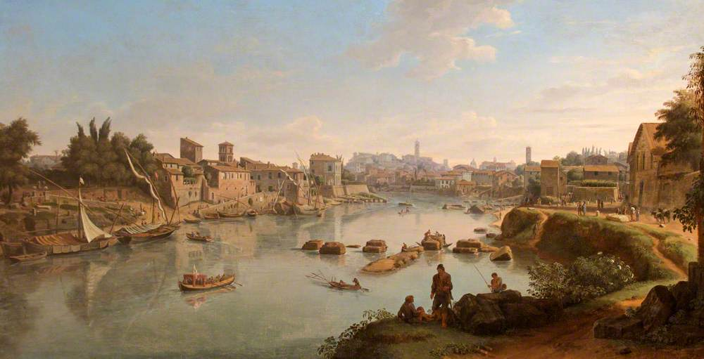 Gaspare Vanvitelli (1653-1736) - View up the Tiber from the Via Marmorata, Rome - 724330 - National Trust.jpg