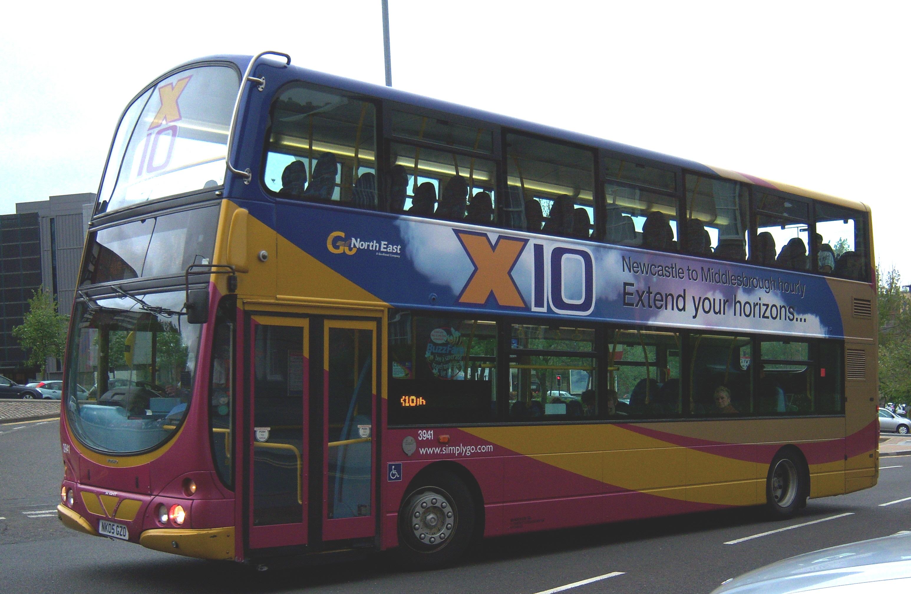 File:Go North East bus 3941 Volvo B7TL Wrightbus Eclipse Gemini NK05 GZO X10 livery