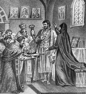 Борису Годунову сообщают об его избрании на царство