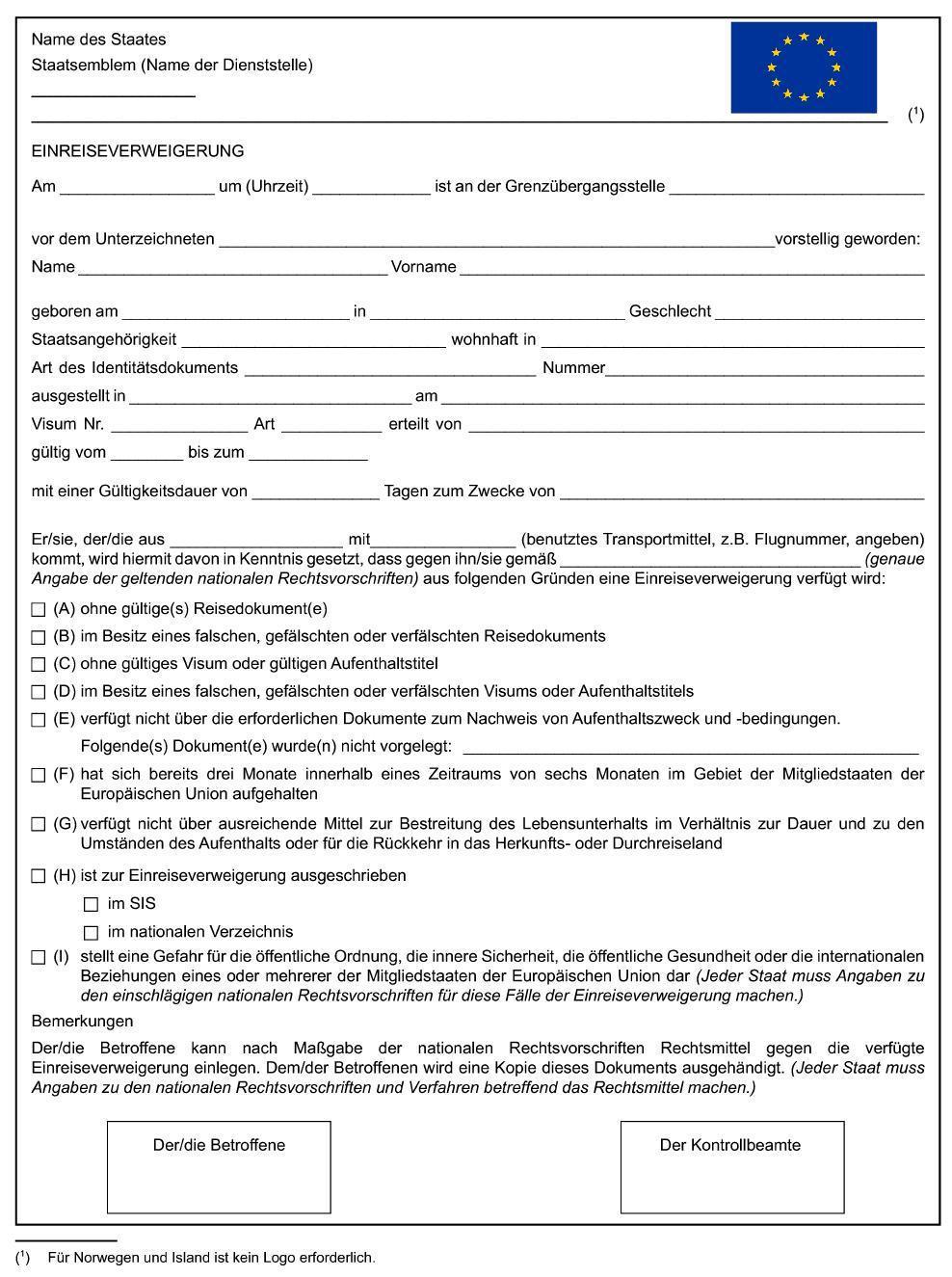 filegrenzkodex einreiseverweigerungjpg - Asylantrag Muster