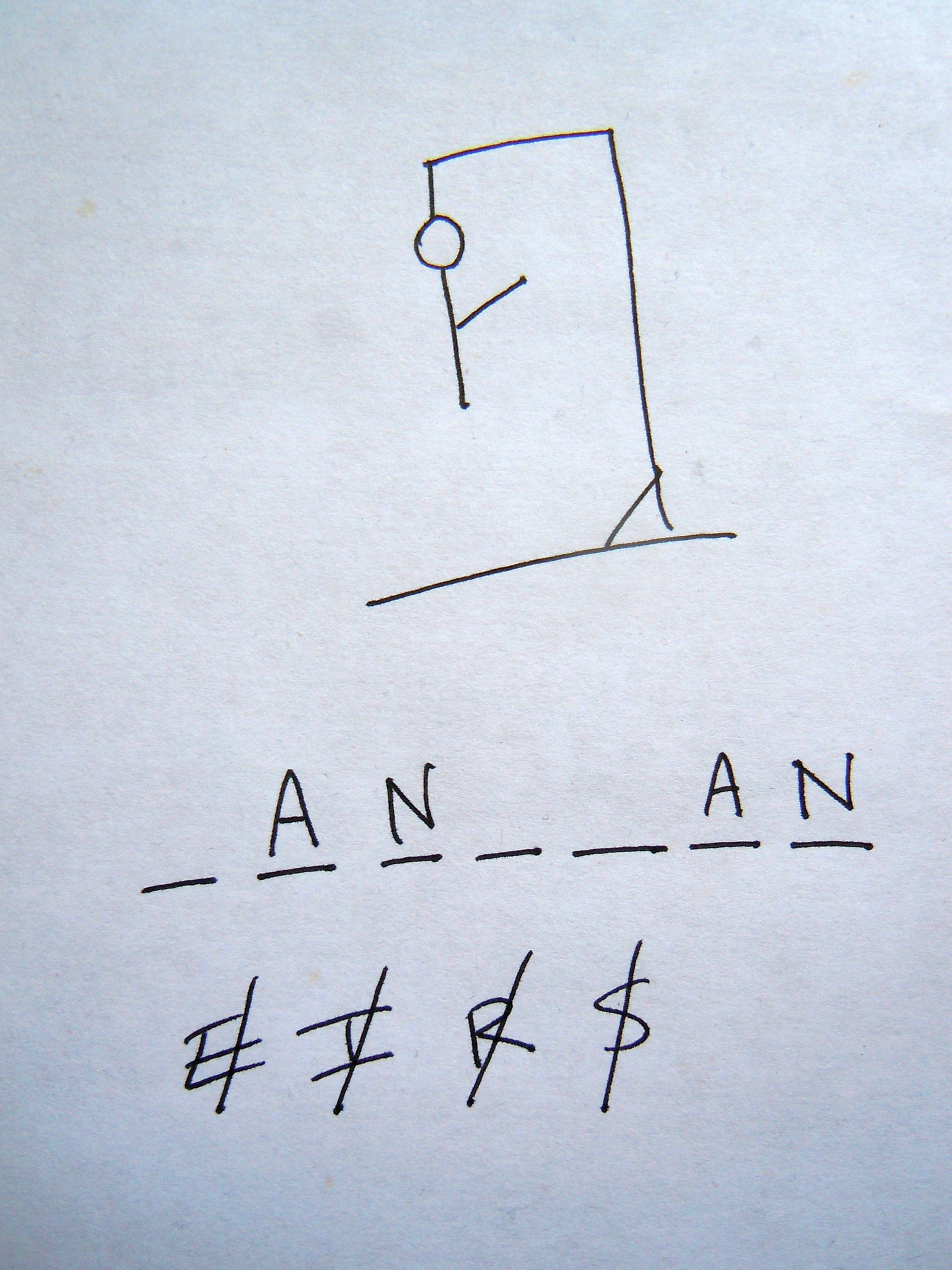 Picture of a game: Hangman