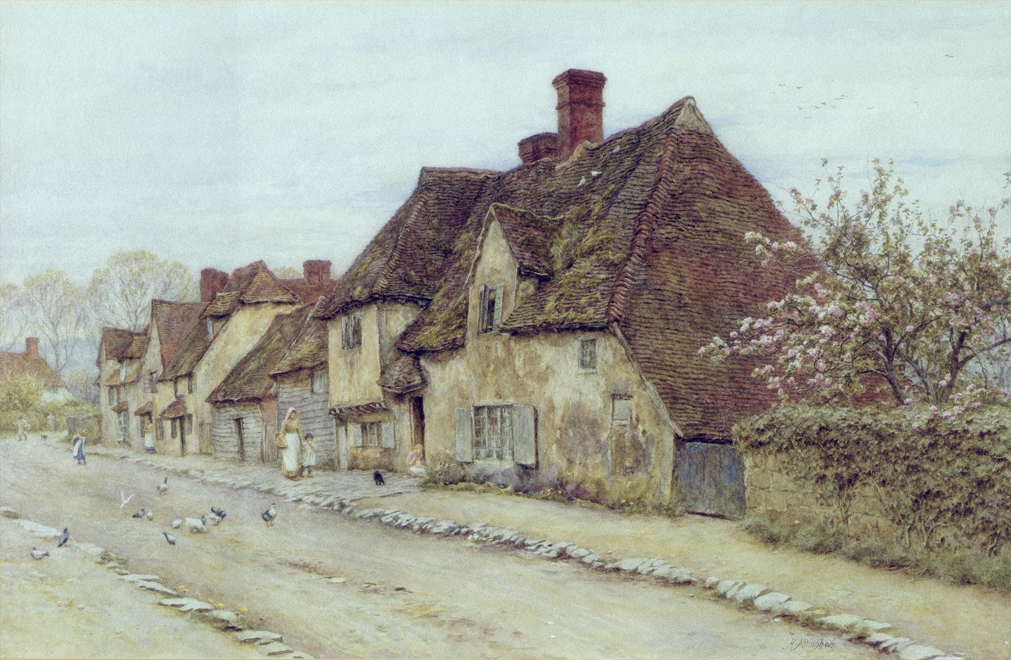 File Helen Allingham A Village Street Jpg Wikimedia