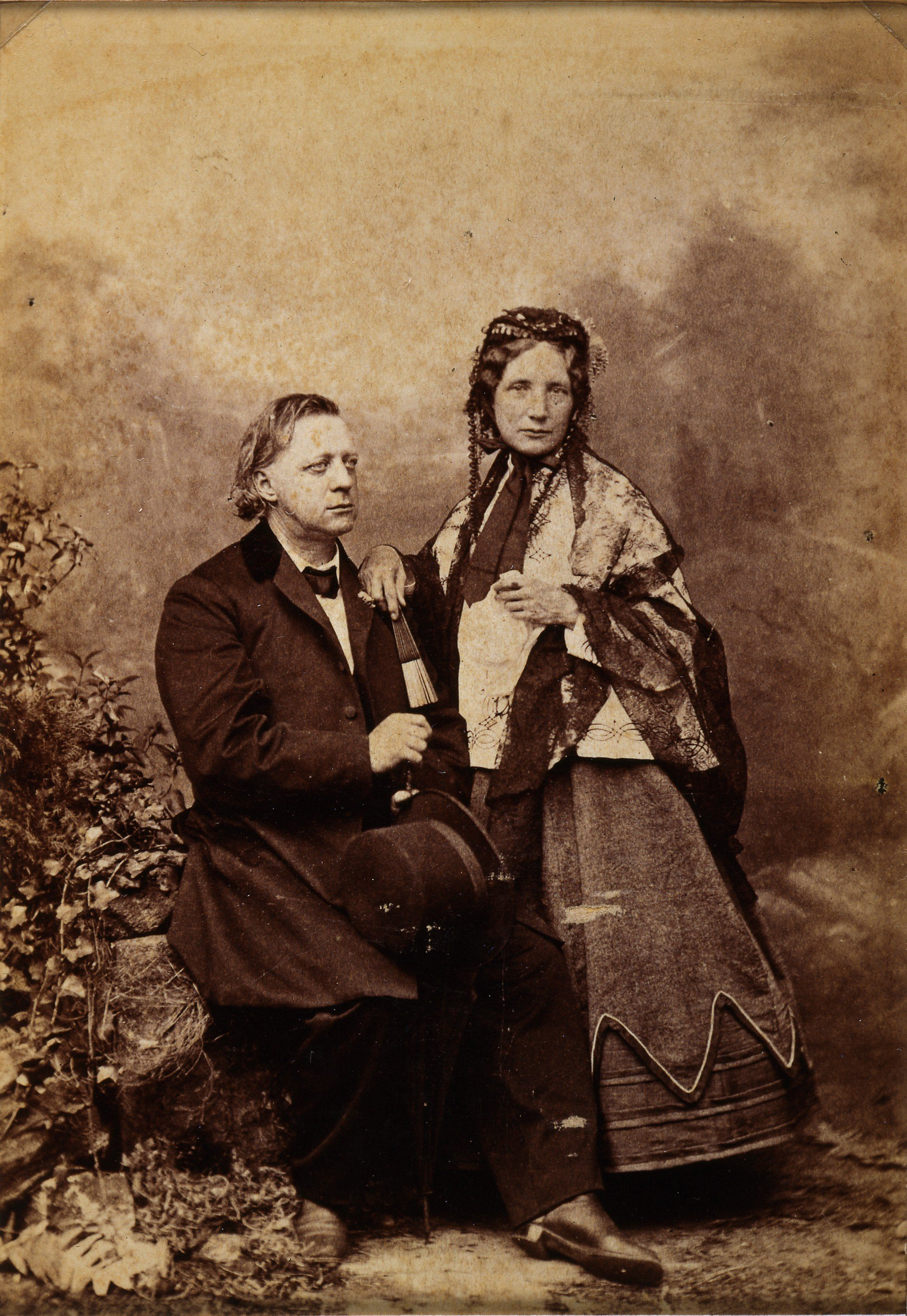 Henry Ward Beecher and Harriet Beecher Stowe