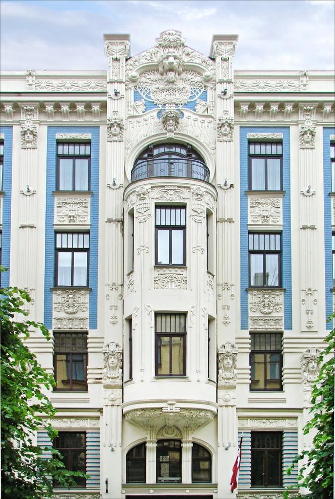 Art nouveau architecture in riga wikipedia for Architecture art nouveau
